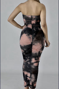 Sheer Tie Dye Midi Dress (Pink) - Everything Girls Like Boutique