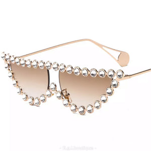 Diamond Cateye Sunglasses