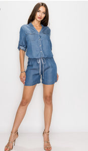 Denim Jumper - Everything Girls Like Boutique