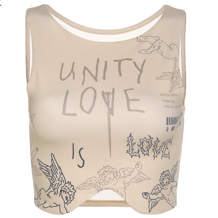 Unity Is Love Crop Top
