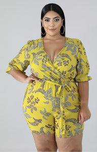 Wild Flower Romper (Plus Size) - Everything Girls Like Boutique