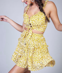 Yellow Flower Bomb - Everything Girls Like Boutique