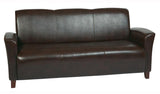 Mocha Bonded Leather Sofa