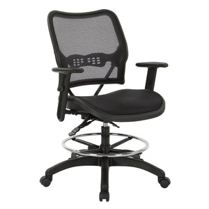 Deluxe Ergonomic AirGrid Seat and Back Drafting Chair with Arms