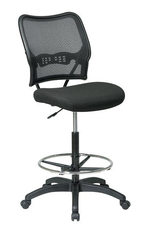 AirGrid Back and Custom Fabric Seat Drafting Chair