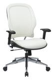 Deluxe White Vinyl Back and Seat Managers Chair