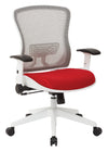 White Breathable Mesh Back Managers Chair