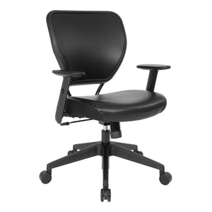 Black Vinyl over AirGrid Back Chair