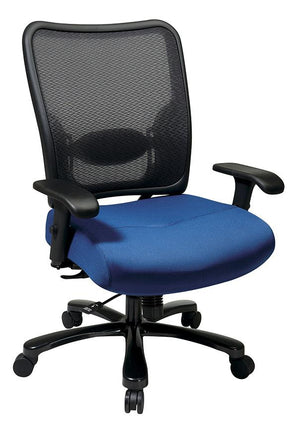 Big & Tall Double AirGrid Back and Custom Fabric Seat Ergonomic Chair