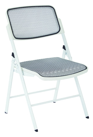ProGrid Mesh Seat and Back Folding Chair (2-PK)