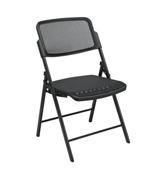 Deluxe Folding Chair With Black ProGrid Seat and Back (2-PK)