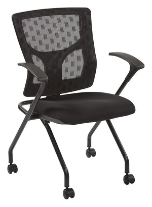 ProGrid Checkered Mesh Back Folding Chair (2-PK)