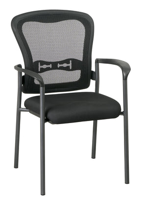Titanium Finish Visitors Chair with Arms and ProGrid Back