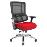 Vertical Black Mesh Back Chair with Headrest