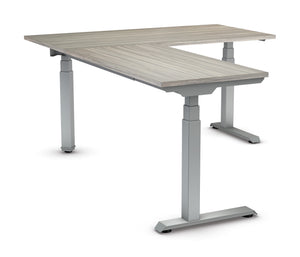 "Ascend II 3 Stage 60"" x 78"" Electric Height Adjustable Table L-Shape"