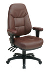 Professional Dual Function Ergonomic High Back Leather Chair