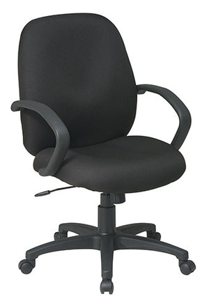 Executive Mid Back Managers Chair with Fabric Back