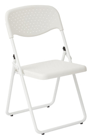White Frame Foliding Chair (4-PK)