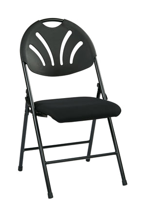 Folding Chair with Plastic Fan Back (4-PK)