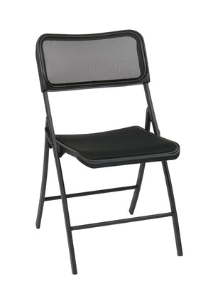 Folding Chair with Screen Seat and Back (2-PK)
