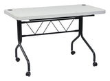 "47.75"" Resin Multi Purpose Flip Table with Locking Casters"
