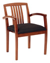 Leg Chair With Wood Slat Back & Light Cherry Finish