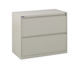 "36"" Wide 2 Drawer Lateral File With Core-Removeable Lock & Adjustable Glides"