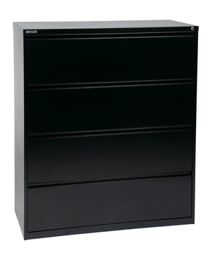 "42"" Wide 4 Drawer Lateral File With Core-Removeable Lock & Adjustable Glides"