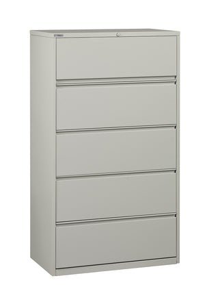 "36"" Wide 5 Drawer Lateral File With Core-Removeable Lock & Adjustable Glides"