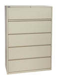 "42"" Wide 5 Drawer Lateral File With Core-Removeable Lock & Adjustable Glides"