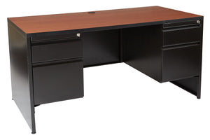 Double Pedestal Desk 60 x 30