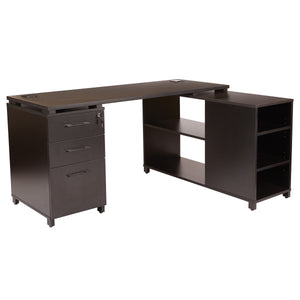 Prado L-Shape Office Group with Storage