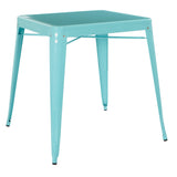 Paterson Metal Table in Mint Finish