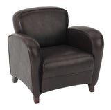 Mocha Bonded Leather Club Chair