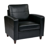 Club Chair With Espresso Finish Legs