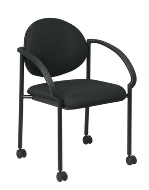 Stack Chairs with Casters and Arms