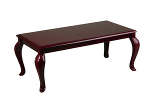 Mahogany Finish Queen Ann Traditional Coffee Table