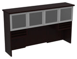 "Tuxedo 72"" Hutch with Glass/Aluminum Doors"