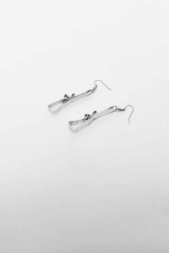 SILVER EARRINGS - CURLY