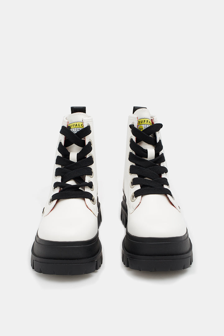 Aspha Lace Up HI boot | White