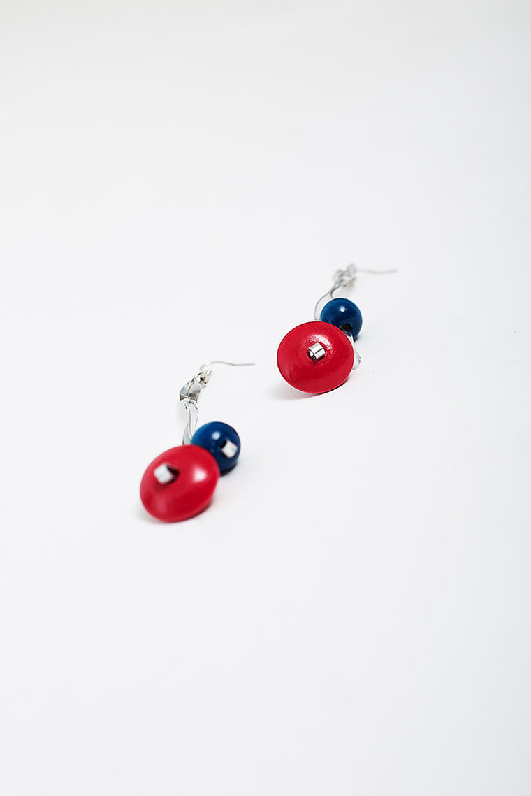 WOODEN BEADS EARRINGS
