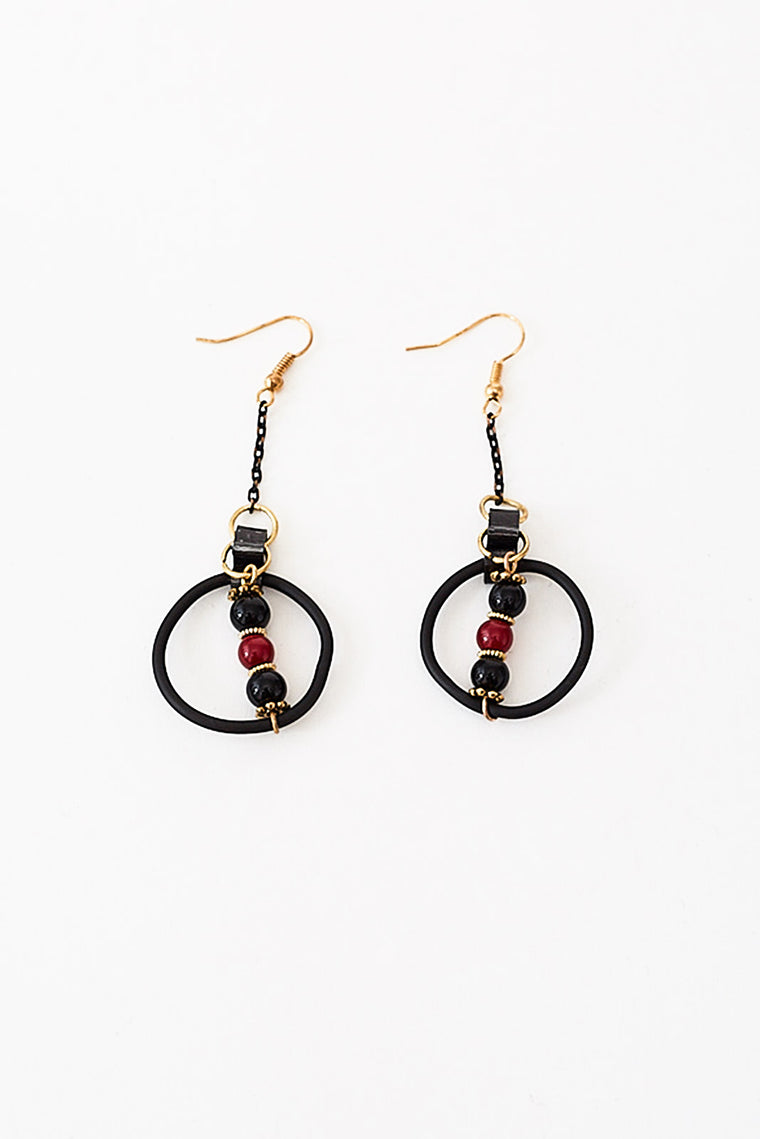 THETA CAOUTCHOUC EARRINGS