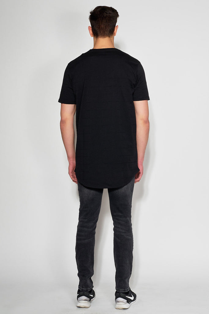 ANTIOCH - BLACK EMBROIDERED T-SHIRT - Men Clothing - Ozon Boutique - 3