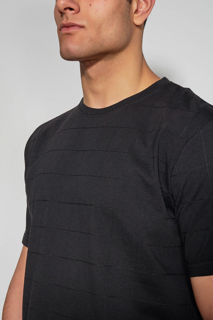 ANTIOCH - BLACK EMBROIDERED T-SHIRT - Men Clothing - Ozon Boutique - 2