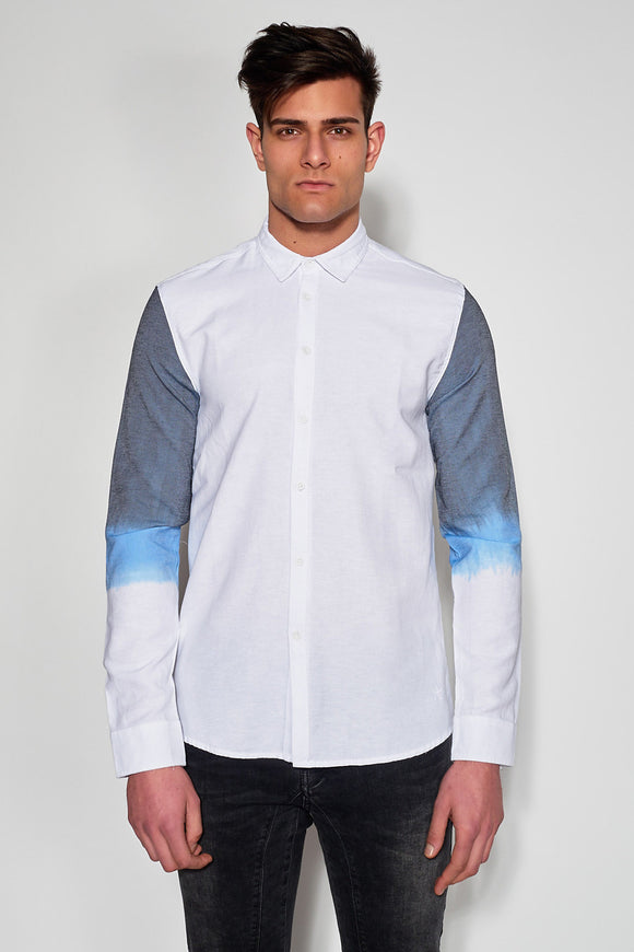 ANTIOCH - BLUE OMBRE SLEEVE SHIRT - Men Clothing - Ozon Boutique - 1