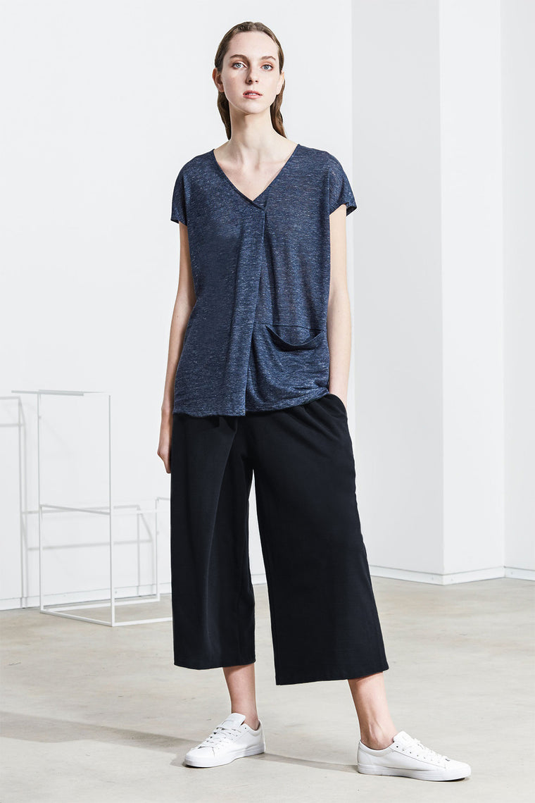 CULOTTE TROUSERS MIDNIGHT NAVY