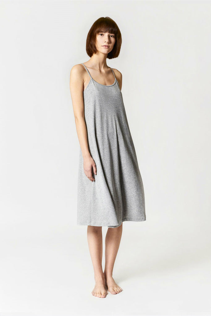 SPAGHETTI STRAP DRESS GREY