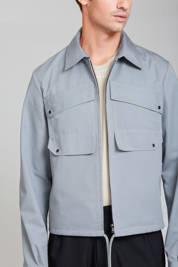 Patch Pocket Blouson Jacket | Dust Grey