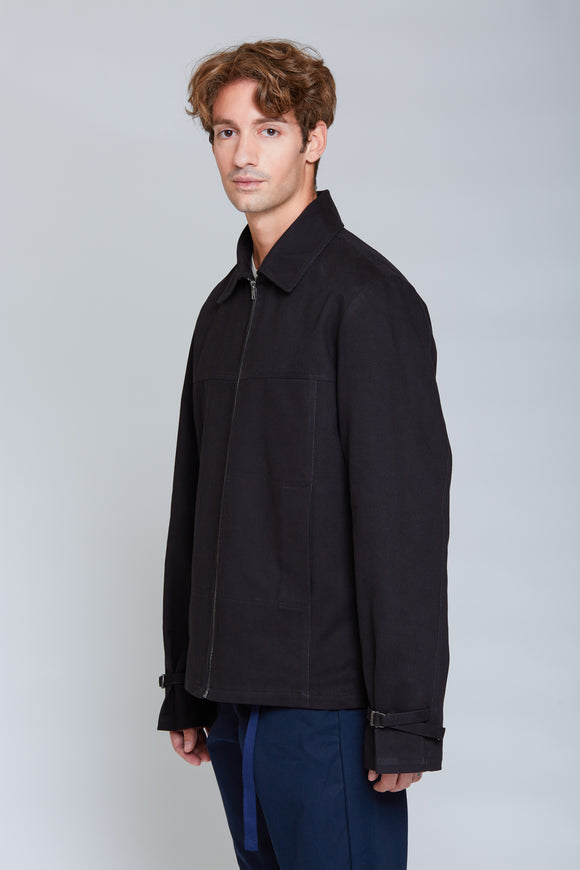 Heavy Shirt Blouson Jacket | Black