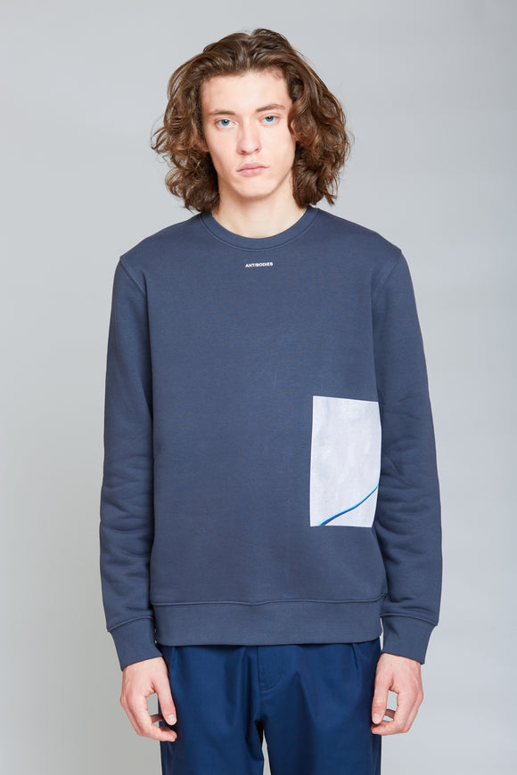 Petri Crewneck| Ink Grey